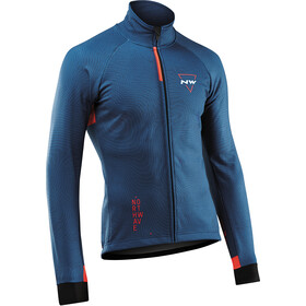 Northwave Blade 3 Chaqueta Protección Total Hombre, blue/lobster orange